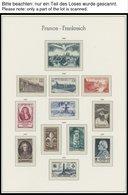 SAMMLUNGEN **, 1945-64, Postfrische Komplette Prachtsammlung Incl. Kleinbogen Philatec Im Falzlosalbum, Pracht, Mi. 2900 - Francia