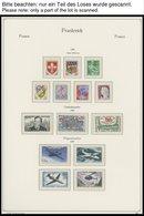 SAMMLUNGEN **, Fast Komplette Postfrische Sammlung Frankreich Von 1960-78 Im KA-BE Falzlosalbum, Dazu 1958/9 Auf Lindner - Francia