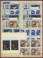 LOTS **, 1961-63, 1. - 4. Gemälde-Ausgabe, Je 20x, Z.T. In Viererblocks, Pracht - Francia