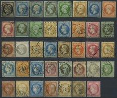 LOTS O, 1849-75, Kleine Partie Von 39 Verschiedenen Werten, Etwas Unterschiedlich Mit Vielen Prachtwerten, Mi. 1120.- - Francia