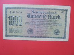 Reichsbanknote 1000 MARK 1922 CIRCULER (B.15) - [ 3] 1918-1933 : Repubblica  Di Weimar