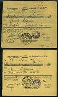 LETTLAND 121 BRIEF, 1929/30, 2 S. Lilarosa, 2 Frankierte Geldanweisungen Aus Amerika (verschiedene Typen), Pracht - Latvia