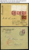 LETTLAND 1923-1940, Interessante Partie Von 45 Belegen Mit Verschiedenen Frankaturen, Dabei 9 Einschreibbriefe Und Ein E - Latvia