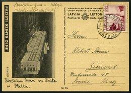 LETTLAND BP 15e BRIEF, 1939, Bildpostkarte Kemeri, Frankiert Mit Mi.Nr. 274, Prachtkarte Nach Zürich - Latvia