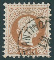 POST IN DER LEVANTE 5II O, 1881, 15 So. Braun, Feiner Druck, Pracht, Gepr. Zenker, Mi. 200.- - Oriente Austriaco