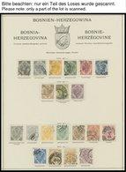 BOSNIEN UND HERZEGOWINA O,* , Meist Gestempelte Sammlung Bosnien Und Herzegowina Mit Vielen Guten Sätzen, Bis Auf 2 Port - Bosnie-Herzegovine