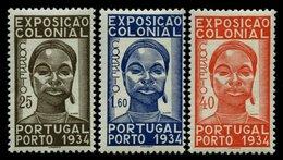PORTUGAL 578-80 *, 1943, Kolonialausstellung, Falzrest, Prachtsatz - Variétés Et Curiosités