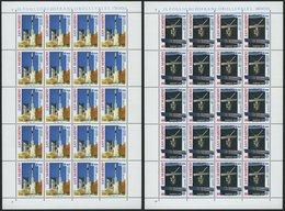SAN MARINO 1465/6 KB **, 1991, Europäische Weltraumfahrt In Kleinbogen, Pracht, Mi. 160.- - Saint-Marin