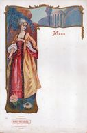 Menu Vierge  Publicité Champagne Piper Heidsieck, Reims, Jolie Femme 1900 - Menus