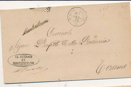 1872 MONTESILVANO PESCARA CORSIVO DI COLLETTORIA RURALE - 1861-78 Vittorio Emanuele II