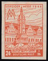 SBZ 164BX Leipziger Messe 24 Pf, WZ.1X, Bräunlichorange, ** - Zone Soviétique