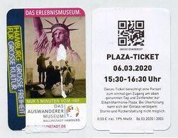 Musée Hambourg 2020 Das Erlebnismuseum. Visuel Statue De La Liberté Statue Of Liberty. Lire Description. Grosse Freiheit - Tickets - Vouchers