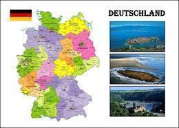 Germany Country Map New Postcard Deutschland Landkarte AK - Otros