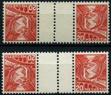 ZUSAMMENDRUCKE KZ 11yC,zC **, 1937, Landschaften Kehrdrucke 20 + Z + 20, Beide Gummierungen, Zwischensteg Senkrecht Gezä - Se-Tenant