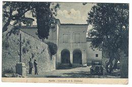 CLA237 - L' AQUILA AQUILA CONVENTO DI S GIULIANO ANIMATA AUTO AUTOMOBILE CAR 1928 - L'Aquila