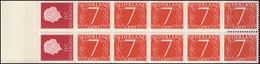 Markenheftchen 2 Königin Juliane Und Ziffer 1964 UV Weiß, Deckel Dunkelblau ** - Booklets