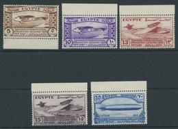 ÄGYPTEN 186-90 **, 1933, Luftfahrtkongress, Postfrischer Prachtsatz - Egypt