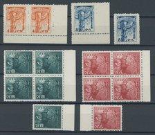 CHINA 85/6,89/90 **, Innere Mongolei: 1943, Aufnahme Des Postbetriebs (2x) Und Krieg In Ostasien (5x), Postfrisch, Prach - Unclassified