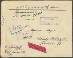 IRAN Brief , 1940, Einschreib-Luftpostbrief Mit Rückseitiger Frankatur Und Zensur Nach Lübeck, Feinst - Irán