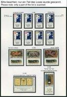 ISRAEL - SAMMLUNGEN, LOTS **, 1974-87, Komplette Teilsammlung Im Hebräischen Falzlosalbum, Pracht, Mi. 550.- - Israël
