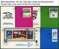 ISRAEL - SAMMLUNGEN, LOTS MK BRIEF, 1990, Kompletter Jahrgang Auf Maximumkarten, Pracht, Markenwert: Mi. 83.- - Israël