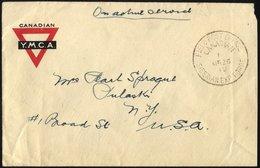 KANADA 1919, K1 FIELD POST OFFICE CANADIAN/SIBERIAN EXP. FORCE Auf Kanadischem Feldpostbrief Mit Handschriftlichem Verme - 1911-1935 Reign Of George V