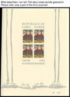 KAP VERDE Bl. 7-9 (*), 1985, Hundertwsser, Alle 3 Blocks Sowie Die Einzelmarken Auf FDC, Im Sonderheft, Pracht - Isola Di Capo Verde
