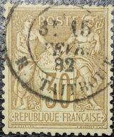 France N°80a Sage 30c Brun. Cachet Du 15 Février 1882 à Paris (Rue Taitbout) - 1876-1898 Sage (Type II)