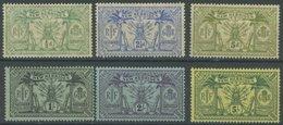 NEUE HEBRIDEN 27,30/1,33-35 *, 1911/2, 6 Prachtwerte, Falzrest, Mi. 155.- - New Hebrides