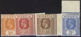 NIGERIA 24-26 A,b **, 1927-31, König Georg V, 4 Verschiedene Postfrische Prachtwerte - Nigeria (1961-...)