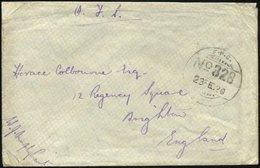 PALÄSTINA 1920, Feldpoststempel F.P.O./No. 328 Auf Feldpostbrief Der Britisch-indischen Truppen Aus Haifa, Feinst - Palestine