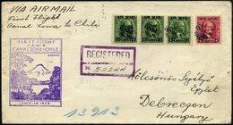 PANAMA-KANALZONE 80/1 BRIEF, 16.7.1929, Erstflug F.A.M.9 CANALZONE-CHILE, Reco-Flugbrief Nach Debreczen/Ungarn: (Christo - Panama