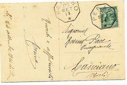 1914 PERANO CHIETI OTTAGONALE DI COLLETTORIA RURALE - Poststempel