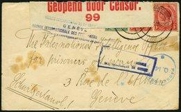 SÜDAFRIKA AB 1910 2,3 Paar BrfStk, 1916, Kriegsgefangenenbrief Aus PIETERMARITZBURG Mit Diversen Zensurstempeln Und Vers - South Africa (...-1961)