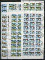 TADSCHIKISTAN 15-21KB O, 1993, Unabhängigkeit In Kleinbogen (30 Bzw. 50), Pracht, Mi. 208.- - Tajikistan