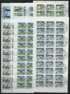 TADSCHIKISTAN 15-21KB O, 1993, Unabhängigkeit In Kleinbogen (30 Bzw. 50), Pracht, Mi. 208.- - Tadjikistan