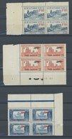 TUNESIEN 146-50,158-60 VB **, 1927/8, Komplett In Postfrischen Viererblocks, Ohne Mi.Nr. 149, Fast Nur Pracht - Neufs