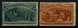 USA 81/2 *, Scott 238/9, 1893, 15 Und 30 C. Columbus-Weltausstellung, Falzreste, Etwas Dezentriert, 2 Werte Kleine Mänge - 1847-99 General Issues