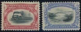 USA 133,135 **, Scott 295,297, 1901, 2 Und 5 C. Panamerikanische Ausstellung, Postfrisch, 2 Werte Feinst, $ 220 - United States