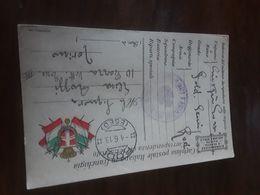Cartolina Postale In Franchigia 1918, Corpo D'occupazione Dell'Egeo, Comando Del Genio, Rodi - Aegean