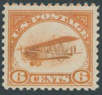 USA 248 *, Scott C 1, 1918, 6 C. Postfluglinie New York - Washington, Falzrest, Pracht, $ 60 - United States