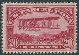 USA Pa 8 *, Scott Q 8, 1912, 20 C. Doppeldecker Wright, Mehrere Falzreste, Pracht, $ 120 - United States