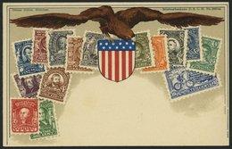 USA Ca. 1900, Briefmarkenserie, Ungebrauchte Karte, Pracht - Timbres (représentations)