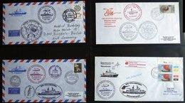 ANTARKTIS 1983/4, Zweite Antarktis Expedition Der POLARSTERN, 8 Verschiedene Belege, Pracht - Timbres