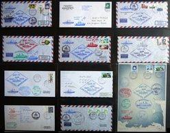 ANTARKTIS 1985/6, Vierte Antarktis Expedition Der POLARSTERN, 75 Verschiedene Belege Im Album, Pracht - Timbres