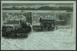 DEUTSCHLAND ETC. BERNRIED (Starnbergersee), Gruss Aus.. Karte Von 1900, Gebraucht - Allemagne