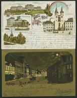 DEUTSCHLAND ETC. HOF, 2 Verschiedene Gruss Aus.. Karten Von 1899 Und 1901, Gebraucht - Allemagne