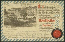 DEUTSCHLAND ETC. MÜNCHEN, Werbekarte Vom Hotel Trefler, Karte Von 1901, Gebraucht - Allemagne