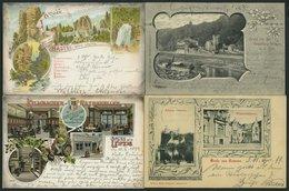 DEUTSCHLAND ETC. SACHSEN, 4 Verschiedene Gruss Aus.. Karten Von 1899-1901, Gebraucht - Allemagne