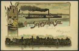 DEUTSCHLAND ETC. STARNBRGERSEE, Farbige Gruss Aus.. Karte Von 1899, Gebraucht - Allemagne
